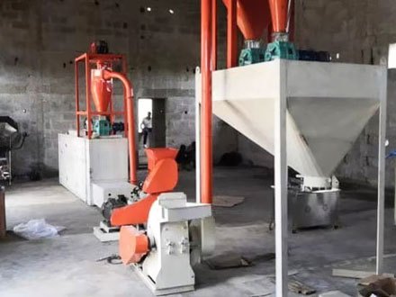 Fish Feed Production Plant / Pet Food Production Line Working Video in Nigeria