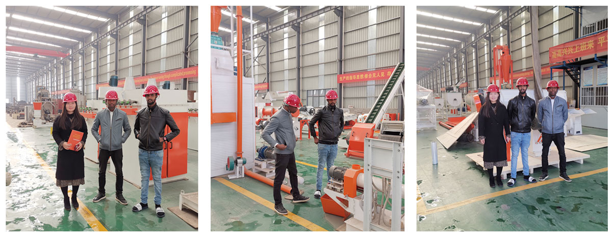 Customers, from Zambia, visit Strongwin factory and inspects the feed plant equipments they bought