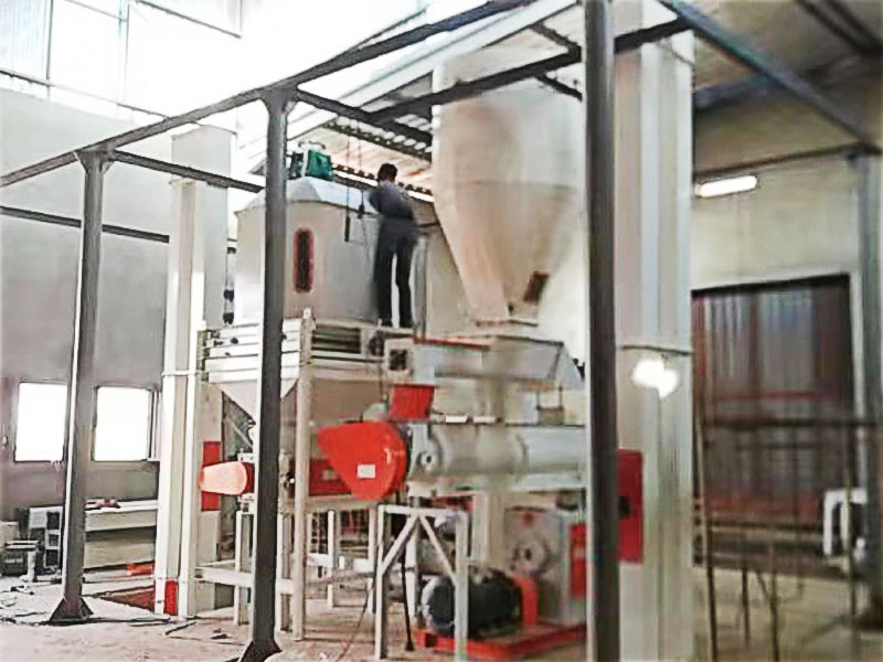 poultry feed pellet production plant