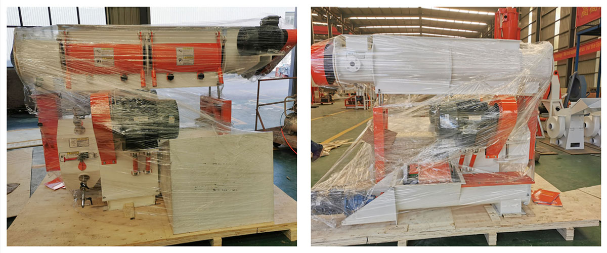 SZLH 250 Feed Pellet Machine, Electric control cabinet, and Conveyor have been shipped to Kazakhstan