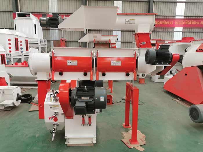 Tanzania customers ordered SZLH 250 animal feed pellet machine