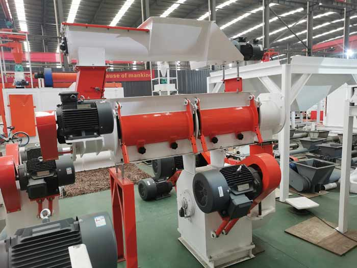 SZLH 250 poultry feed pellet making machine has been shipped